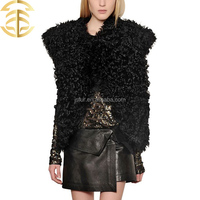 New hotsale products 2015 China sex girl or women animal fur clothes genuine sheep fur vest