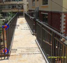 Rust Proof Galvanized Steel Porch Railing With Double Posts