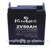Good price maintenance free 2v valve regulate lead acid deep cycle gel battery for ups capacity 50ah