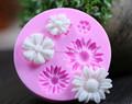 Flor forma de silicone fondant de chocolate&& molde do bolo de decoração