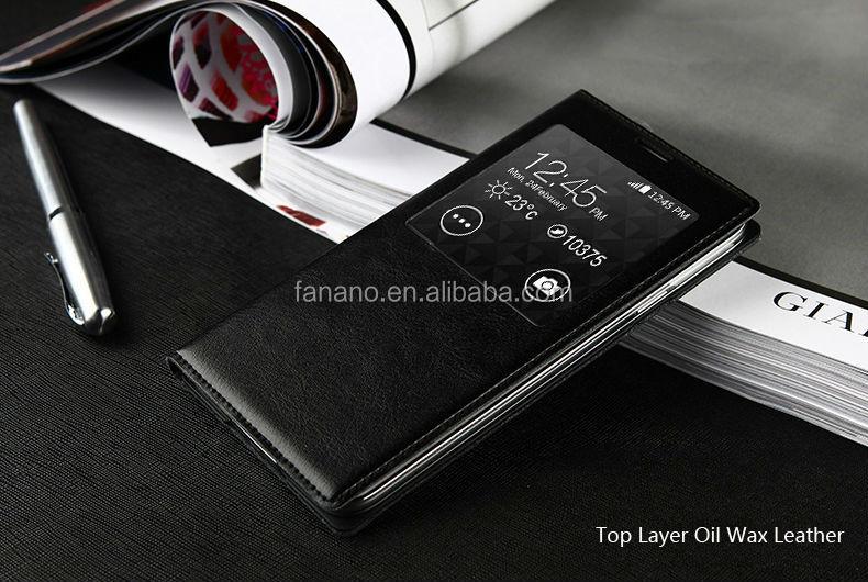 Folio Flip Genuine Cow Leather Case for Samsung Galaxy S5 i9600