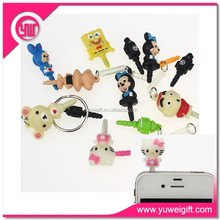 Mobile phone accesssory anti dust plug for samsung iphone /earphone dust plug