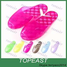 Acupressure Slimming SPA Massage Shoes Slipper Bathroom Washing Shower Slipper Sandal Color Purple/Green/Blue