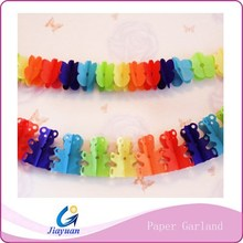 Baby shower party garland - party decoration 28gsm colored paper garland
