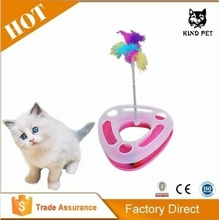 Funny Crazy Circle Orbit Pet Cat Toy Cat Turntable/Cat Playing Rod