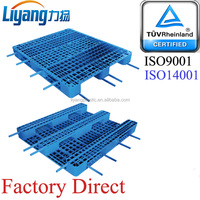Heavy Duty Plastic Pallet with Iron Bars for Racking
