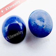 Synthetic Lapis Blue Round Flat Back Cabochon Turquoise