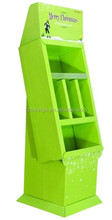 Recycle corrugated cardboard floor display,purchase display