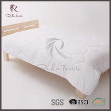White cotton padded bridal quilt