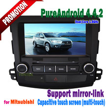 Mitsubishi outlander android 4.4.2 car dvd gps player with bluetooth touch screen mirror-link hotspot 2006~2012