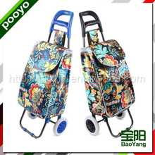 shopping cart with chair color printing shopping bags