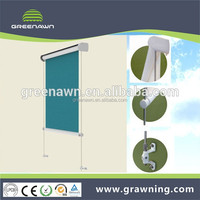 Aluminum Roller Awning / Roller Blind with stainless steel guide rail