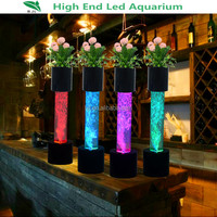 wedding party water bubble lighting plexiglass columns