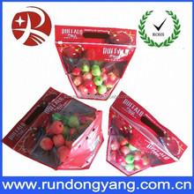 Reusable slider ziplock fruit bag with air holes packaging bag