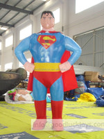 2016 newest giant inflatable Cartoon characters superman for advertisement
