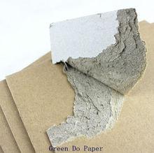 Gray kraft card laminated solid