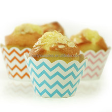 Lovely polka dot baking cup cupcake wrappers&toppers picks decoration kids birthday party favors supplies-CW005