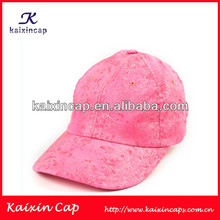 Custom 6 Panel Baseball Cap With Lovely/Cute Pink Sports Hat