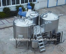 Three vessels brewhouse , stainless steel beer brewing equipment for beer factory