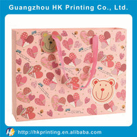 promotion top quality pink gift paper packaging bag