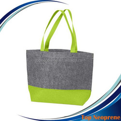 Felt Tote Bag Shopping Hand Bag, Simple but Fashion Felt Shoulder Bag with Little Pockets Inside