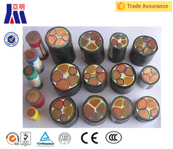 low voltage power cable 240 185 150 120 mm2 PVC XLPE insulated cable
