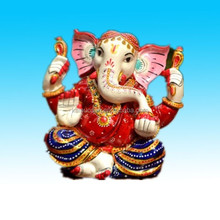 Beatiful elephant face Resin hindu lord god sculpture