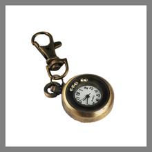 Custom Antique Bronze Clock Shape Keychain Manufacturers in China