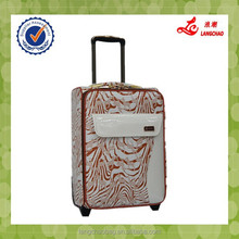 Popular PU Material Comfortable Handle Durable Wheel Factory Price Trolley Luggage