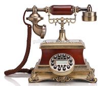 Estilo europeo clásico retro pastoral imitación madera antiguo teléfono teléfono genuino Orlando zx