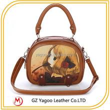 cute cartoon lovely little girl tote bag school bag for teenagers