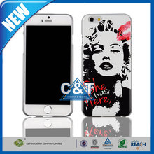 C&T Personalize Black sexy women red Lips Design Pattern cell phone Case for Iphone6