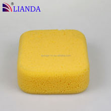 Edge grinding car cleaning sponge,latest clean sponge for car,cleaning yellow car cleaning sponge