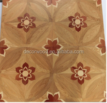ash/rosewood wooden Inlays engineered parquet flooring