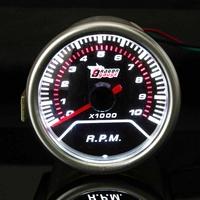 Audew 2 Inch 12V 52MM Universal Red LED Display Tachometer ABS Car Gauge Meter 0-10000RPM