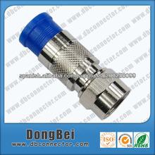 conectores para cable coaxial RG59 RG6 compresión conector resistente al agua
