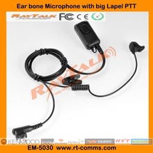 Two way radio bone conduction earpiece microphone for Motorola CP140