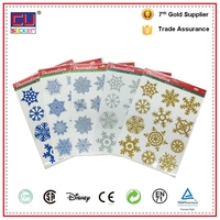 Christmas Window Static Cling Glitter Snowflakes Vinyl Die Cut Sticker