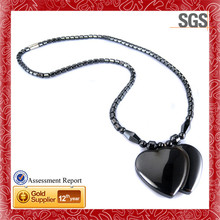 Link with Unique Fashion satin finish black small watch pendant necklaces