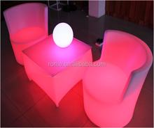 multicolor rechargeable illuminated lighting led bar sofa