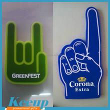 OEM Wholesale Cheap Custom Promotional Sports Cheer Foam Finger no MOQ