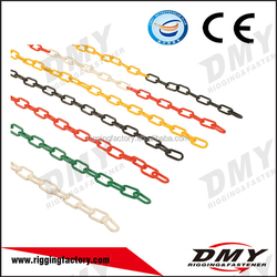 DMY 3mm tractor plastic warning red and black long link chain