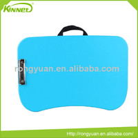Modern hot sell portable blue PVC sheet with black waffle fabric pillow lap tray