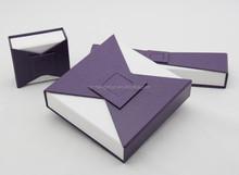 Elegant whole set handmade cardboard jewelry set box,jewelry storage box
