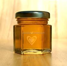 45ml adorable mini hexagonal glass jar for honey wedding favors