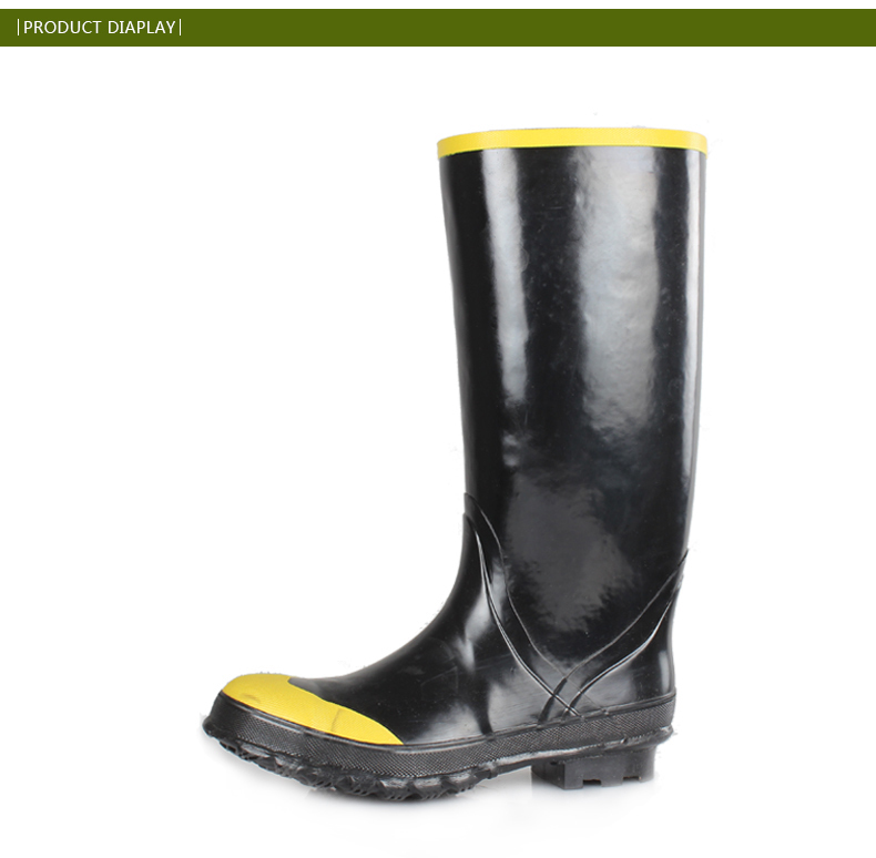 rubber mens work boots with steel toe rubber boots for