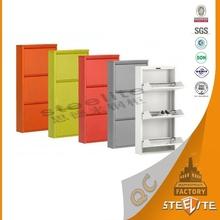 Luoyang wholesale colorful livingroom furniture luxury metal shoe cabinet