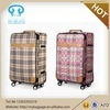 cheap design carry-on PU leather trolley luggage
