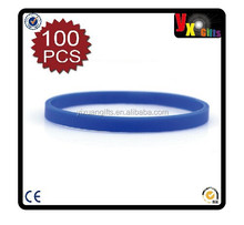 (Price/100 PCS)GOGO Thin Silicone Wristbands, Rubber Bracelets, Party Favors