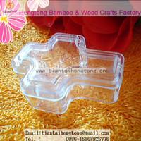 fancy transparent plastic cross shape rosary box for 4mm bead rosary, rosary bracelet box